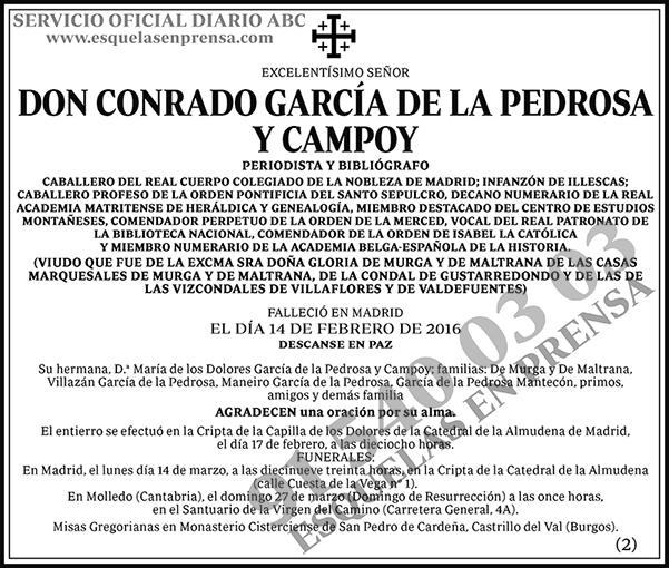 Conrado García de la Pedrosa y Campoy